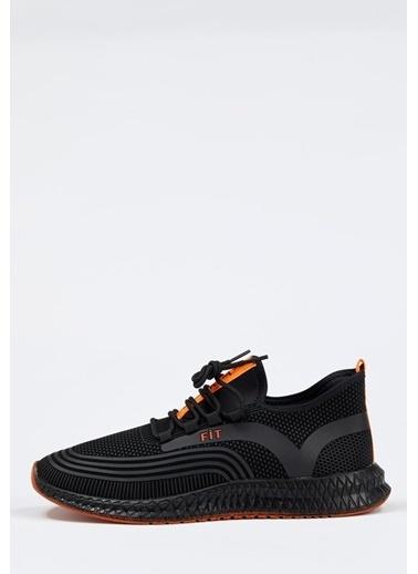 Defacto –Fit Bağcıklı Aktif Spor Ayakkabı Siyah